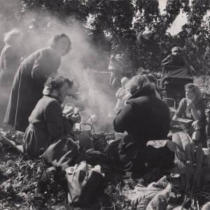 Herefordshire Hop Pickers Taking a Tea Break