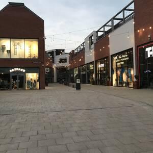 Deserted Old Market shopping,, Hereford, 28 April 2020