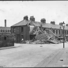 Bomb Damage on Claypath Lane