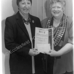 Joan Jones & Cllr Patricia Fox, Presentation 1993.