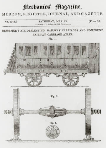 Air-deflecting carriages
