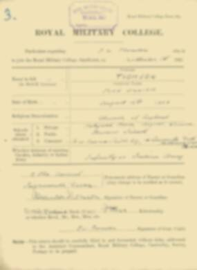 RMC Form 18A Personal Detail Sheets Feb & Sept 1922 Intake - page 136
