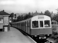 Newly introduced District line rolling stock, Wimbledon Park Station.