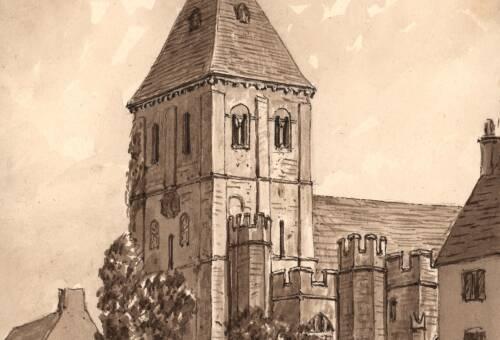 Sidbury Church,  September 1880, Sidbury