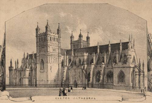 Exeter Cathedral, George Townsend, 19th Century, Exeter