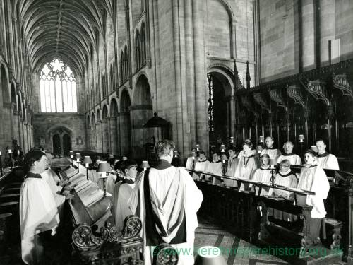 Choir at Hereford Cathedral
