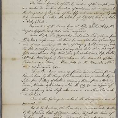 Miscellaneous Dealings with the Town Council of Edinburgh, 1621-1770