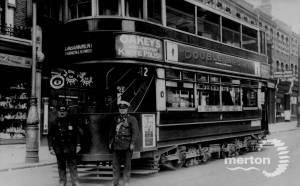 Tram on Wimbledon Hill Road