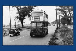 Trolleybus on Mitcham Common