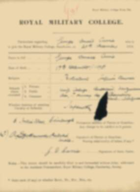 RMC Form 18A Personal Detail Sheets Jan 1915 Intake - page 98