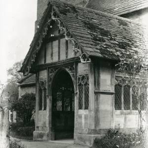 Berrington church, porch
