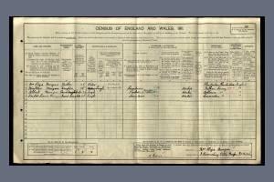 1911 Census - 3 Ravensbury Villas, Morden Road, Mitcham