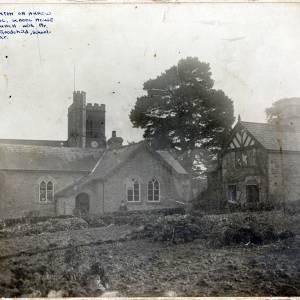 Staunton-on-Arrow schoolhouse & church 1951