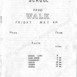 Ecclesfield School Walk 4th May 1990.