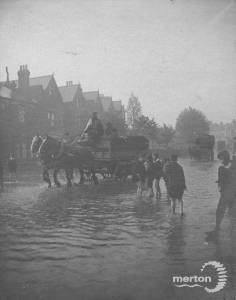 Flooding on Haydon's Road, Wimbledon