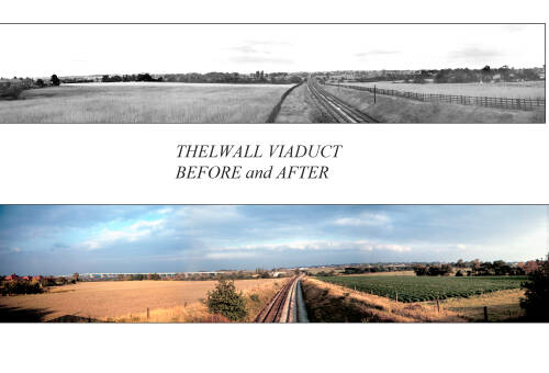 Thelwall Viaduct: before and after