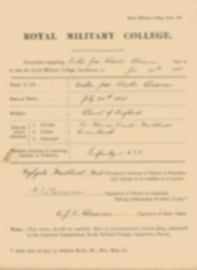 RMC Form 18A Personal Detail Sheets Jan 1915 Intake - page 73