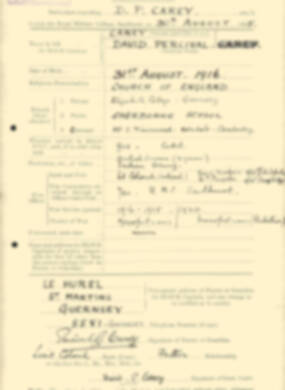 RMC Form 18A Personal Detail Sheets Aug 1935 Intake - page 40