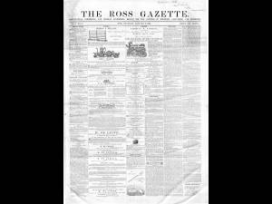 Ross Gazette 1867