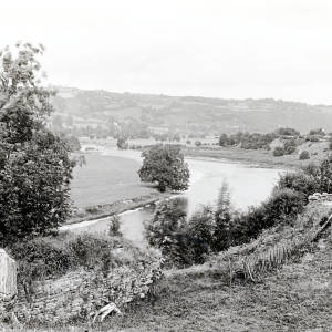 View from Clifford castle to Whitney, 1928