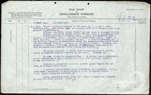 War Diary Extract for 27 October 1918 - 16th Battalion, Rifle Brigade