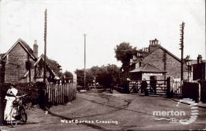 West Barnes  Railway Level Crossing