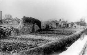 Phipps Bridge Road, Mitcham: Merton Priory Wall