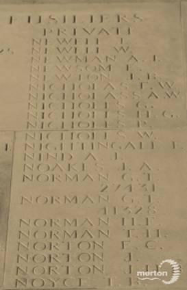 Memorial Stone for Private Ernest Newsom