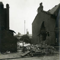 Bootle , Ibstock Road, bomb damage, blitz