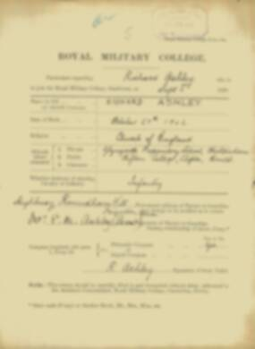 RMC Form 18A Personal Detail Sheets Feb & Sept 1921 Intake - page 5