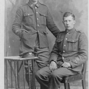 Two soldiers of the Gloucestershire Regiment