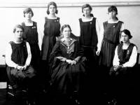 Wimbledon County School for Girls: Miss Borthwick and Prefects