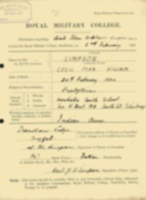 RMC Form 18A Personal Detail Sheets Feb & Sept 1922 Intake - page 127