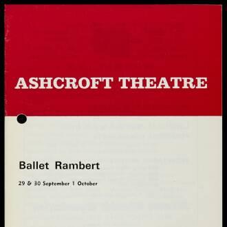 Ashcroft Theatre, Croydon, September–October 1969