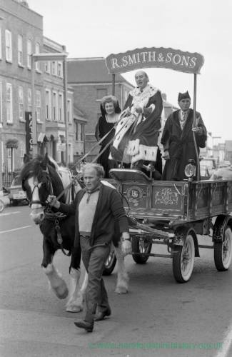 The Mayor of Hereford at the opening of the May Fair, 1975