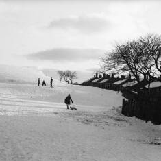Playing in the Snow on Prince Edward Road, South Shields