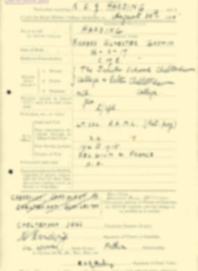 RMC Form 18A Personal Detail Sheets Aug 1935 Intake - page 94