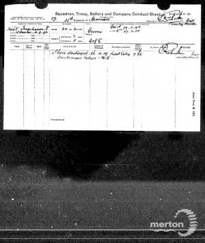Service Record - Harry Reginald Farquharson