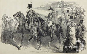 Prince Albert  Reviews the Troops on Wimbledon Common