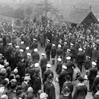 Mayor's Sunday, outside St Mary's Church, Bootle, 1932