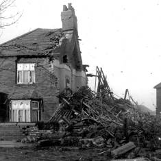 Bomb Damage Corner of Page Avenue and King George Road