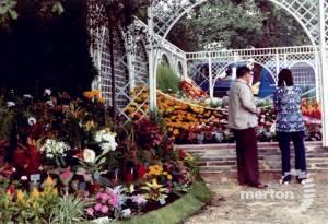Floral display at the Merton Show, Morden Park