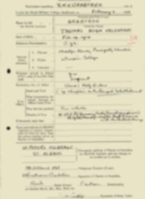 RMC Form 18A Personal Detail Sheets Feb & Sept 1933 Intake - page 35