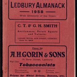 Tilley's Ledbury Almanack 1958