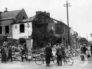 Bomb Damage to Wimbledon Tyre Company