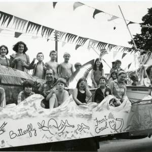 1978 Ross & District Swimming Club carnival float, 10th August 1978