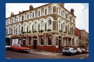 Gorringe Park Hotel, Mitcham Road. Part of the Young & Co Brewery chain.