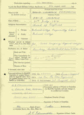 RMC Form 18A Personal Detail Sheets Aug 1935 Intake - page 69