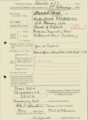 RMC Form 18A Personal Detail Sheets Feb & Sept 1933 Intake - page 74