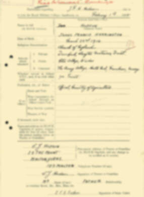 RMC Form 18A Personal Detail Sheets Aug 1935 Intake - page 111